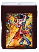 In The Rhythm Of Tango Duvet Cover