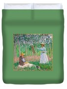 In The Woods At Giverny Duvet Cover