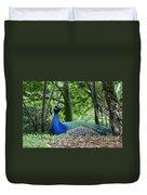 Indian Blue Peacock Duvet Cover