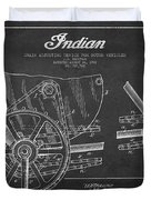 Indian Motorcycle Patent From 1902 Duvet Cover by Aged Pixel