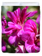 Ivy Geranium Named Contessa Purple Bicolor Duvet Cover