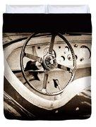Jaguar Steering Wheel Duvet Cover