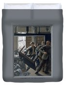 3. Jesus Drives Out The Money Changers / From The Passion Of Christ - A Gay Vision Duvet Cover