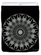 Kaleidoscope Ernst Haeckl Sea Life Series Black And White Set On Duvet Cover