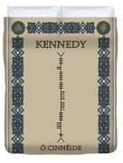Kennedy Written In Ogham Duvet Cover