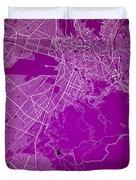 La Paz  Street Map - La Paz Bolivia Road Map Art On Colored Back Duvet Cover