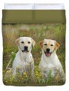 Labrador Retriever Dogs Duvet Cover