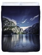 Lake Braies And Dolomite Alps, Northern Duvet Cover