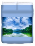 Lake Santeetlah In Great Smoky Mountains North Carolina Duvet Cover