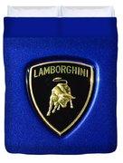Lamborghini Emblem Duvet Cover