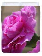Lavender Carnations Duvet Cover
