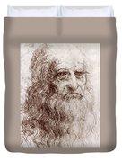 Leonardo Da Vinci (1452-1519) Duvet Cover