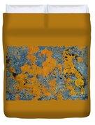 Lichened Rocks Duvet Cover