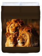 Lion Family Close Together Duvet Cover