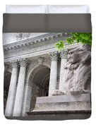 Lion New York Public Library Duvet Cover