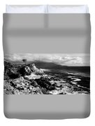 Lone Cypress On The Coast, Pebble Duvet Cover