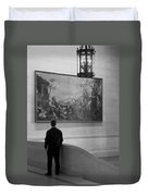 Looking At A Painting Duvet Cover