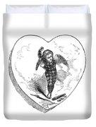 Love Lyrics And Valentine Verses, 1875 Duvet Cover