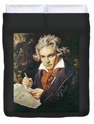Ludwig Van Beethoven (1770-1827) Duvet Cover