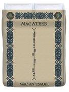 Macateer Written In Ogham Duvet Cover