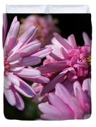 Marguerite Daisy Named Double Pink Duvet Cover