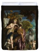 Mars And Venus United By Love Duvet Cover