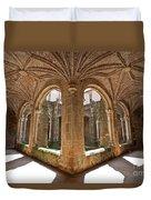 Medieval Monastery Cloister Duvet Cover