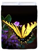 Monarch On Mountain Laurel Duvet Cover
