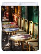 Montmartre Cafe Duvet Cover