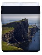 Neist Point Lighthouse Duvet Cover