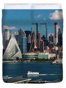 New York City Skyline As Seen Duvet Cover