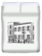 New York: Dispensary, 1868 Duvet Cover