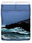 Ocean Foam In Fury Duvet Cover