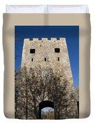 Old Sigulda Castle Ruins Duvet Cover