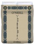 O'neill Written In Ogham Duvet Cover