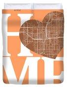 Orlando Street Map Home Heart - Orlando Florida Road Map In A He Duvet Cover