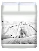 Over The Hill And Far Away Duvet Cover