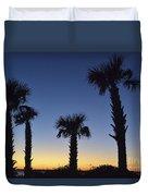 Carolina Palm Sky Duvet Cover