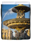 Paris Fountain Duvet Cover