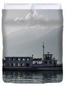 Passenger Ship On An Alpine Lake Duvet Cover