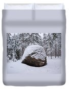 Pine Forest Winter Duvet Cover
