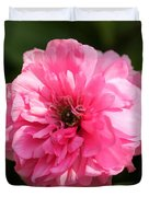 Pink Ranunculus Duvet Cover