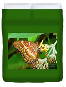 Plain Tiger Butterfly Duvet Cover