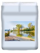 Plants And Trees Close To The River Duvet Cover