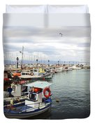Port Of Aegina Duvet Cover