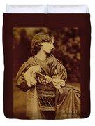 Portrait Of Jane Morris Duvet Cover