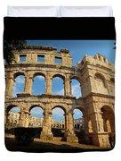 Pula, Istria County, Croatia. The Roman Duvet Cover