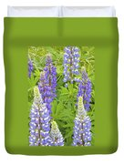Purple Lupine Flowers Duvet Cover