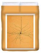Pyramidal Cell In Cerebral Cortex, Cajal Duvet Cover