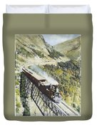 Railroad Bridge, C1870 Duvet Cover